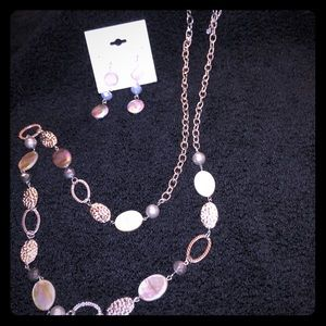 "NEW Ashley Cooper 40"" Necklace & Earrings Set"